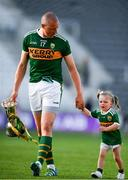 23 June 2018; Kerry's Kieran Donaghy leaves the pitch with his daughter Lola Rose following the Munster GAA Football Senior Championship Final match between Cork and Kerry at Páirc Ui Chaoimh in Cork. Photo by Eóin Noonan/Sportsfile
