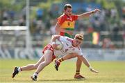 23 June 2018; Conor Meyler of Tyrone in action against Sean Gannon of Carlow during the GAA Football All-Ireland Senior Championship Round 2 match between Carlow and Tyrone at Netwatch Cullen Park in Carlow. Photo by Matt Browne/Sportsfile