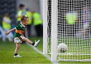 23 June 2018; Daughter of Kerry's Kieran Donaghy, Lola Rose playing on the pitch following the Munster GAA Football Senior Championship Final match between Cork and Kerry at Páirc Ui Chaoimh in Cork. Photo by Eóin Noonan/Sportsfile