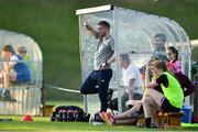 23 June 2018; Wexford Youth Womens FC manager Tom Elmes during the Continental Tyres WNL match between Limerick WFC and Wexford Youths WFC at the University of Limerick in Limerick. Photo by Harry Murphy/Sportsfile