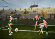 23 June 2018; Kieran Donaghy of Kerry with his daughter Lola Rose following the Munster GAA Football Senior Championship Final match between Cork and Kerry at Páirc Ui Chaoimh in Cork. Photo by Stephen McCarthy/Sportsfile