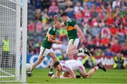 23 June 2018; Paul Geaney of Kerry celebrates after scoring his side's third goal during the Munster GAA Football Senior Championship Final match between Cork and Kerry at Páirc Ui Chaoimh in Cork. Photo by Eóin Noonan/Sportsfile