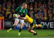 23 June 2018; Keith Earls of Ireland is tackled by Dane Haylett-Petty of Australia during the 2018 Mitsubishi Estate Ireland Series 3rd Test match between Australia and Ireland at Allianz Stadium in Sydney, Australia. Photo by Brendan Moran/Sportsfile