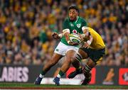 23 June 2018; Bundee Aki of Ireland is tackled by Lukhan Tui of Australia during the 2018 Mitsubishi Estate Ireland Series 3rd Test match between Australia and Ireland at Allianz Stadium in Sydney, Australia. Photo by Brendan Moran/Sportsfile