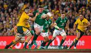 23 June 2018; Tadhg Furlong of Ireland is tackled by Izack Rodda of Australia during the 2018 Mitsubishi Estate Ireland Series 3rd Test match between Australia and Ireland at Allianz Stadium in Sydney, Australia. Photo by Brendan Moran/Sportsfile