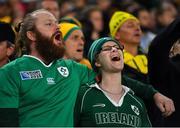 23 June 2018; Ireland fans during the 2018 Mitsubishi Estate Ireland Series 3rd Test match between Australia and Ireland at Allianz Stadium in Sydney, Australia. Photo by Brendan Moran/Sportsfile