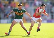 23 June 2018; Stephen Cronin of Cork and Micheal Burns of Kerry during the Munster GAA Football Senior Championship Final match between Cork and Kerry at Páirc Ui Chaoimh in Cork. Photo by Stephen McCarthy/Sportsfile
