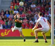 23 June 2018; Paul Geaney of Kerry punches a score during the Munster GAA Football Senior Championship Final match between Cork and Kerry at Páirc Ui Chaoimh in Cork. Photo by Stephen McCarthy/Sportsfile
