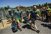 24 June 2018; Donegal manager Declan Bonner arrives prior to the Ulster GAA Football Senior Championship Final match between Donegal and Fermanagh at St Tiernach's Park in Clones, Monaghan. Photo by Ramsey Cardy/Sportsfile