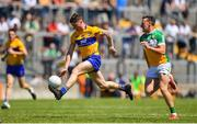 24 June 2018; Ciarán Malone of Clare in action against Michael Brazil of Offaly during the GAA Football All-Ireland Senior Championship Round 2 match between Offaly and Clare at Bord Na Mona O'Connor Park in Tullamore, Offaly. Photo by Harry Murphy/Sportsfile
