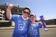 24 June 2018; Dublin supporters Sean, age 10, and Jamie Nolan, age 6, from Dun Laoghaire, prior to the Leinster GAA Football Senior Championship Final match between Dublin and Laois at Croke Park in Dublin. Photo by Stephen McCarthy/Sportsfile