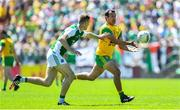 24 June 2018; Frank McGlynn of Donegal is tackled by Conall Jones of Fermanagh during the Ulster GAA Football Senior Championship Final match between Donegal and Fermanagh at St Tiernach's Park in Clones, Monaghan. Photo by Ramsey Cardy/Sportsfile