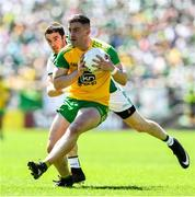 24 June 2018; Patrick McBrearty of Donegal in action against Michael Jones of Fermanagh during the Ulster GAA Football Senior Championship Final match between Donegal and Fermanagh at St Tiernach's Park in Clones, Monaghan. Photo by Ramsey Cardy/Sportsfile