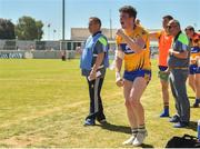 24 June 2018; Keelan Sexton of Clare and Clare manager Colm Collins celebrate during the GAA Football All-Ireland Senior Championship Round 2 match between Offaly and Clare at Bord Na Mona O'Connor Park in Tullamore, Offaly. Photo by Harry Murphy/Sportsfile