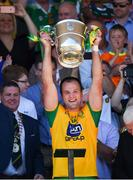 24 June 2018; Michael Murphy of Donegal lifts the Anglo Celt cup following his side's victory in the Ulster GAA Football Senior Championship Final match between Donegal and Fermanagh at St Tiernach's Park in Clones, Monaghan. Photo by Philip Fitzpatrick/Sportsfile