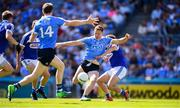 24 June 2018; Ciarán Kilkenny of Dublin shoots to score his side's first goal during the Leinster GAA Football Senior Championship Final match between Dublin and Laois at Croke Park in Dublin. Photo by Stephen McCarthy/Sportsfile