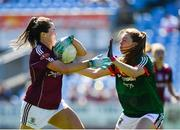 24 June 2018; Nicola Ward of Galway in action against Sarah Tierney of Mayo during the TG4 Connacht Ladies Senior Football Final match between Mayo and Galway at Elvery's MacHale Park in Castlebar, Mayo. Photo by Seb Daly/Sportsfile