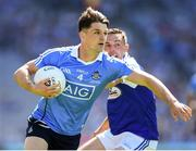 24 June 2018; Eric Lowndes of Dublin in action against Niall Donoher of Laois during the Leinster GAA Football Senior Championship Final match between Dublin and Laois at Croke Park in Dublin. Photo by Stephen McCarthy/Sportsfile