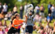 24 June 2018; Hannah Cronin of Midlands in action against Aine Rohan of Kilkenny during the U14 Gaynor Cup Final match between Kilkenny League and Midlands League on Day 2 of the Fota Island Resort Gaynor Tournament at the University of Limerick in Limerick. Photo by Eóin Noonan/Sportsfile