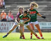 24 June 2018; Rachel Kearns of Mayo in action against Leanne Coen of Galway during the TG4 Connacht Ladies Senior Football Final match between Mayo and Galway at Elvery's MacHale Park in Castlebar, Mayo. Photo by Seb Daly/Sportsfile