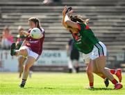 24 June 2018; Leanne Coen of Galway in action against Fiona McHale and Rachel Kearns of Mayo during the TG4 Connacht Ladies Senior Football Final match between Mayo and Galway at Elvery's MacHale Park in Castlebar, Mayo. Photo by Seb Daly/Sportsfile