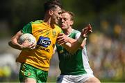 24 June 2018; Michael Langan of Donegal in action against Lee Cullen of Fermanagh during the Ulster GAA Football Senior Championship Final match between Donegal and Fermanagh at St Tiernach's Park in Clones, Monaghan. Photo by Oliver McVeigh/Sportsfile