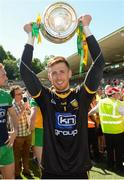 24 June 2018; Shaun Patton of Donegal celebrates with the cup after the Ulster GAA Football Senior Championship Final match between Donegal and Fermanagh at St Tiernach's Park in Clones, Monaghan. Photo by Oliver McVeigh/Sportsfile