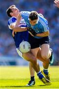 24 June 2018; Paddy Andrews of Dublin in action against Gareth Dillon of Laois during the Leinster GAA Football Senior Championship Final match between Dublin and Laois at Croke Park in Dublin. Photo by Stephen McCarthy/Sportsfile