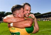 24 June 2018; Patrick McBrearty, left, and Michael Murphy of Donegal celebrate following the Ulster GAA Football Senior Championship Final match between Donegal and Fermanagh at St Tiernach's Park in Clones, Monaghan. Photo by Ramsey Cardy/Sportsfile