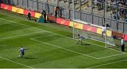 24 June 2018; Paul Mannion of Dublin sends a penalty wide during the Leinster GAA Football Senior Championship Final match between Dublin and Laois at Croke Park in Dublin. Photo by Daire Brennan/Sportsfile