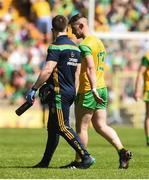24 June 2018; Patrick McBrearty of Donegal goes off injured during the Ulster GAA Football Senior Championship Final match between Donegal and Fermanagh at St Tiernach's Park in Clones, Monaghan. Photo by Oliver McVeigh/Sportsfile