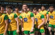 24 June 2018; Patrick McBrearty of Donegal and his teammates await the final whistle of the Ulster GAA Football Senior Championship Final match between Donegal and Fermanagh at St Tiernach's Park in Clones, Monaghan. Photo by Ramsey Cardy/Sportsfile