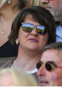 24 June 2018; DUP leader Arlene Foster during the Ulster GAA Football Senior Championship Final match between Donegal and Fermanagh at St Tiernach's Park in Clones, Monaghan. Photo by Ramsey Cardy/Sportsfile