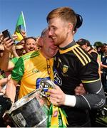 24 June 2018; Shaun Patton of Donegal and his father Peter following the Ulster GAA Football Senior Championship Final match between Donegal and Fermanagh at St Tiernach's Park in Clones, Monaghan. Photo by Ramsey Cardy/Sportsfile