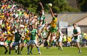 24 June 2018; Michael Murphy of Donegal in action against Eoin Donnelly of Fermanagh during the Ulster GAA Football Senior Championship Final match between Donegal and Fermanagh at St Tiernach's Park in Clones, Monaghan. Photo by Oliver McVeigh/Sportsfile