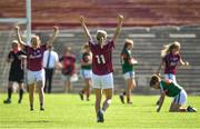 24 June 2018; Tracey Leonard of Galway reacts at the final whistle following her side's victory during the TG4 Connacht Ladies Senior Football Final match between Mayo and Galway at Elvery's MacHale Park in Castlebar, Mayo. Photo by Seb Daly/Sportsfile