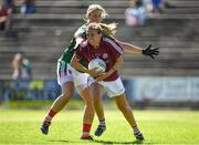 24 June 2018; Sinead Burke of Galway in action against Cora Staunton of Mayo during the TG4 Connacht Ladies Senior Football Final match between Mayo and Galway at Elvery's MacHale Park in Castlebar, Mayo. Photo by Seb Daly/Sportsfile