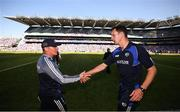24 June 2018; Dublin manager Jim Gavin and Laois manager John Sugrue shake hands following the Leinster GAA Football Senior Championship Final match between Dublin and Laois at Croke Park in Dublin. Photo by Stephen McCarthy/Sportsfile