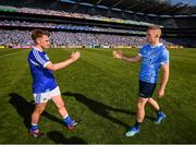 24 June 2018; Eoghan O'Gara of Dublin and Ross Munnelly of Laois following the Leinster GAA Football Senior Championship Final match between Dublin and Laois at Croke Park in Dublin. Photo by Stephen McCarthy/Sportsfile