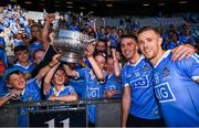 24 June 2018; Dublin players, Paul Mannion, right, and Cormac Costello celebrate with supporters following the Leinster GAA Football Senior Championship Final match between Dublin and Laois at Croke Park in Dublin. Photo by Stephen McCarthy/Sportsfile