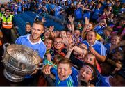 24 June 2018; Paul Mannion of Dublin brings the Delaney Cup to Dublin supporters following the Leinster GAA Football Senior Championship Final match between Dublin and Laois at Croke Park in Dublin. Photo by Stephen McCarthy/Sportsfile