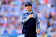 24 June 2018; Dublin manager Jim Gavin during the Leinster GAA Football Senior Championship Final match between Dublin and Laois at Croke Park in Dublin. Photo by Stephen McCarthy/Sportsfile