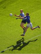 24 June 2018; Conor McHugh of Dublin in action against Mark Timmons of Laois during the Leinster GAA Football Senior Championship Final match between Dublin and Laois at Croke Park in Dublin. Photo by Daire Brennan/Sportsfile
