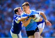 24 June 2018; Con O'Callaghan of Dublin in action against Gareth Dillon of Laois during the Leinster GAA Football Senior Championship Final match between Dublin and Laois at Croke Park in Dublin. Photo by Stephen McCarthy/Sportsfile