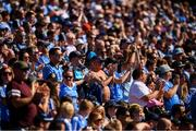 24 June 2018; Dublin supporters applaud during the 48th minute to mark the Truth campaign launched by the families of the Stardust tragedy during the Leinster GAA Football Senior Championship Final match between Dublin and Laois at Croke Park in Dublin. Photo by Stephen McCarthy/Sportsfile