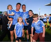 24 June 2018; Paul Flynn and Darren Daly of Dublin with family and supporters following the Leinster GAA Football Senior Championship Final match between Dublin and Laois at Croke Park in Dublin. Photo by Stephen McCarthy/Sportsfile