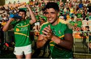 23 June 2018; Emlyn Mulligan of Leitrim celebrates following the GAA Football All-Ireland Senior Championship Round 2 match between Leitrim and Louth at Páirc Seán Mac Diarmada in Carrick-on-Shannon, Co. Leitrim. Photo by Ramsey Cardy/Sportsfile