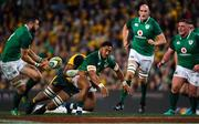 23 June 2018; Bundee Aki of Ireland offloads to team-mate Robbie Henshaw, left, during the 2018 Mitsubishi Estate Ireland Series 3rd Test match between Australia and Ireland at Allianz Stadium in Sydney, Australia. Photo by Brendan Moran/Sportsfile