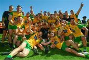 24 June 2018; The Donegal team celebrate following the Ulster GAA Football Senior Championship Final match between Donegal and Fermanagh at St Tiernach's Park in Clones, Monaghan. Photo by Ramsey Cardy/Sportsfile