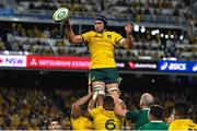 23 June 2018; Rob Simmons of Australia wins a lineout during the 2018 Mitsubishi Estate Ireland Series 3rd Test match between Australia and Ireland at Allianz Stadium in Sydney, Australia. Photo by Brendan Moran/Sportsfile